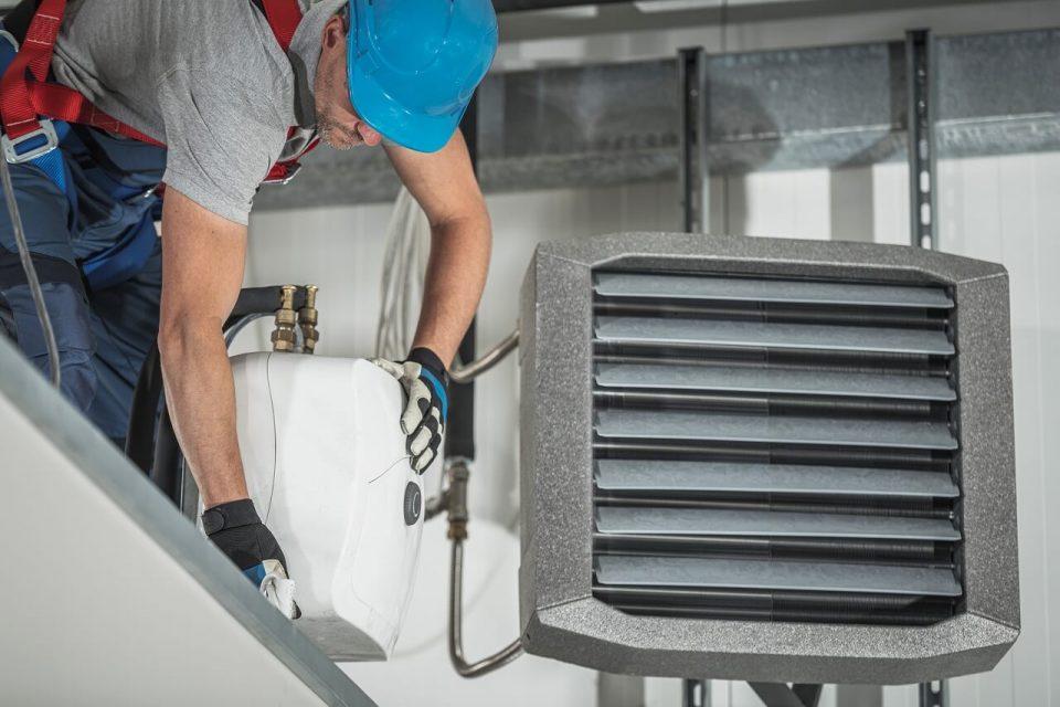 water heating installation